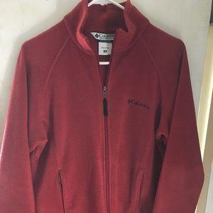 Red Columbia fleece jacket